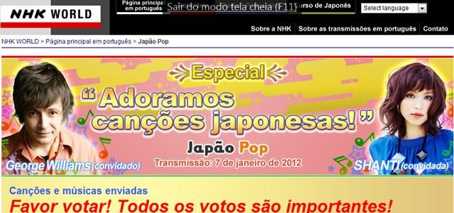 Três brasileiros classificados no concurso adoramos canções japonesas promovidos pela NHK World