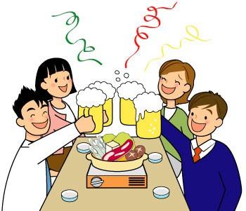 Nomikai, reuniões para comer, beber e se divertir Tadaima