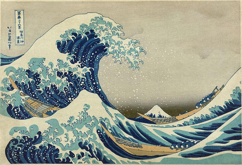 A Grande Onda, da série de ukiyo-ê 36 Vistas do Monte Fuji de Katsushika Hokusai