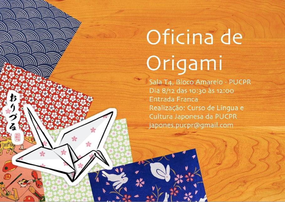 Alunos do Curso de Língua Japonesa da PUCPR promovem Oficina de Origami