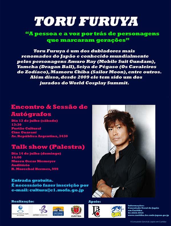 Dublador japonês Toru Furuya participa de evento em Curitiba