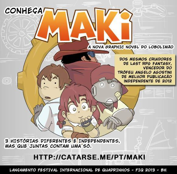 HQ MAKI é financiada com sucesso através do site Catarse