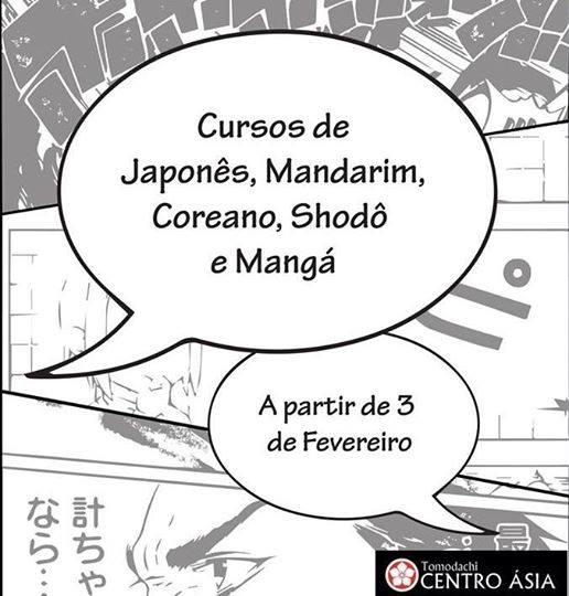 Cursos de japonês, manga, mandarim, coreano e shodô do Tomodachi - Centro Ásia