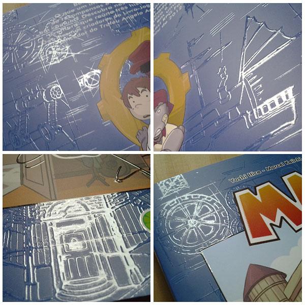Review da HQ Maki, do estúdio LoboLimão detalhes verniz capa