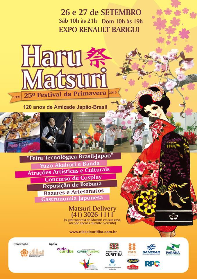 Haru Matsuri 2015 cartaz do evento