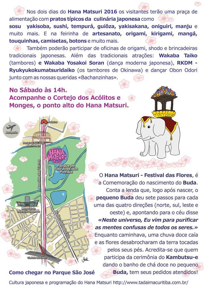 Hana Matsuri 2016 - cartaz e programação oficial