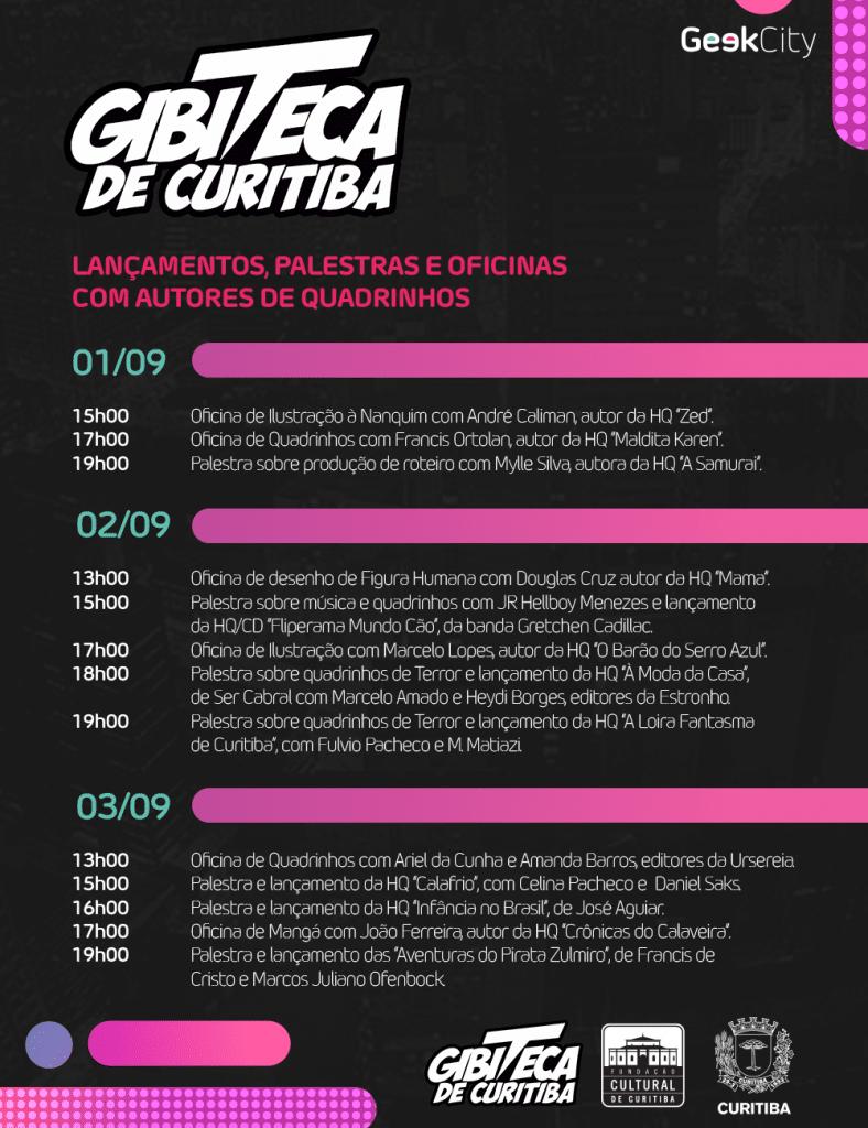 Gibiteca programação Geek City Tadaima Curitiba